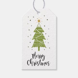 Etiqueta para regalo Christmas Tree White