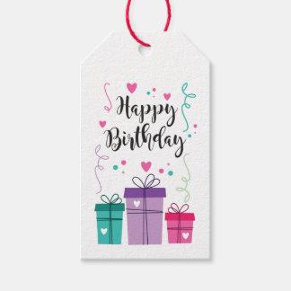 Etiqueta para regalo Happy Birthday