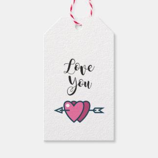 Etiqueta para regalo Love You