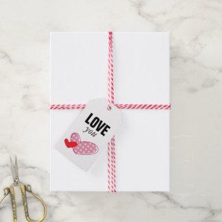Etiqueta para Regalo Love You Hearts Etiquetas Para Regalos
