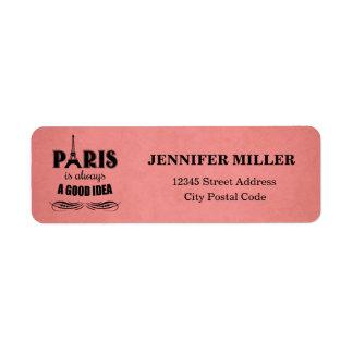 Etiqueta París es siempre una buena idea