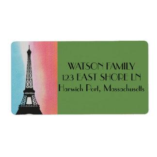 Etiqueta París Francia Eiffel personaliza destinos del