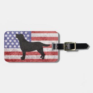 Etiqueta patriótica del equipaje de las barras y