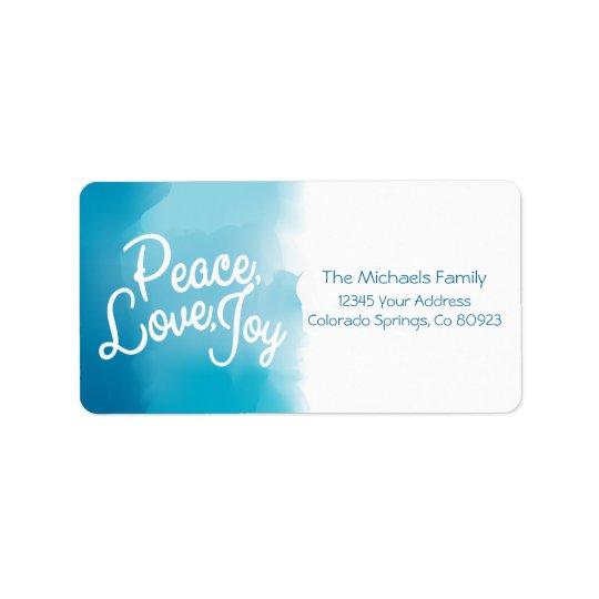 Etiqueta Paz, amor, alegría, día de fiesta moderno