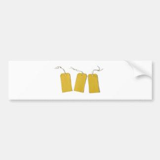 etiqueta pegatina de parachoque