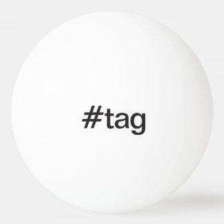etiqueta pelota de tenis de mesa