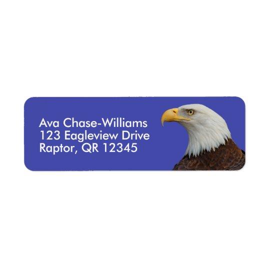 Etiqueta Perfil de Eagle calvo adulto