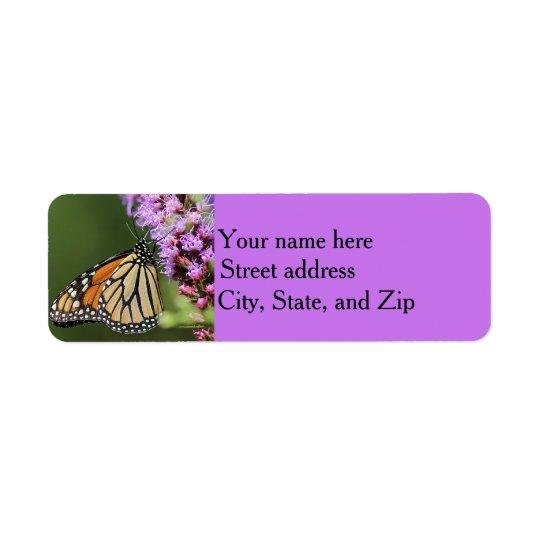 Etiqueta Perfil de la mariposa de monarca