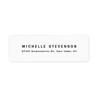 Etiqueta Personal minimalista blanco negro moderno elegante