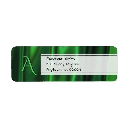 Etiqueta Personalice:  Falsa textura verde de la tela de