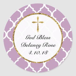 Etiqueta personalizada cruz del favor del oro,