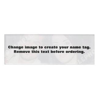 Etiqueta personalizada del nombre de la foto.