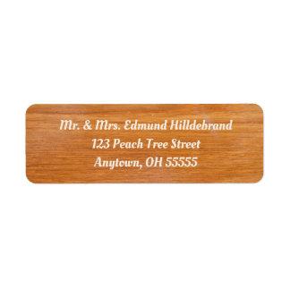 Etiqueta Personalizado de madera rústico