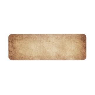 Etiqueta Personalizado del fondo del papel de la antigüedad