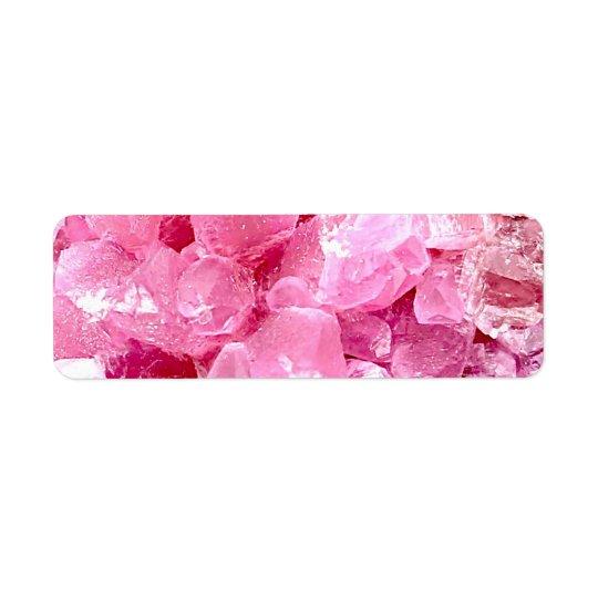 Etiqueta Piedra preciosa rosada de la moda