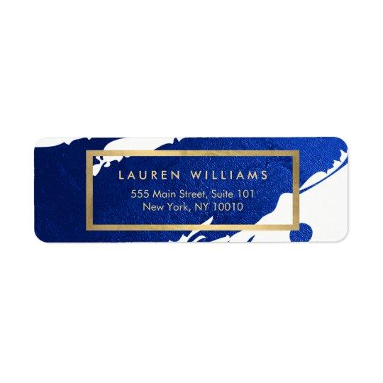 Etiqueta Pinceladas abstractas de los azules añiles