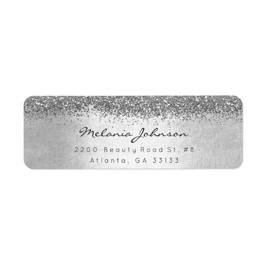 Etiqueta Plata brillante de plata del brillo metálica