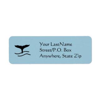 Etiqueta - platijas de la ballena etiqueta de remitente