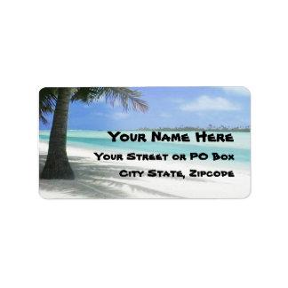 Etiqueta Playa tropical