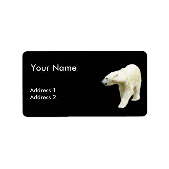 Etiqueta Polar refiera un fondo negro