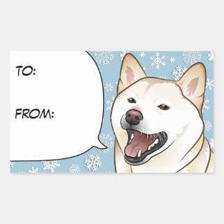 Etiqueta poner crema del regalo de Shiba Inu de