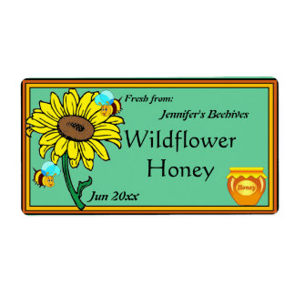 Etiqueta Pote del girasol y de la miel