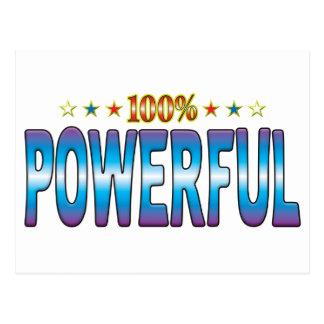 Etiqueta potente v2 de la estrella tarjetas postales
