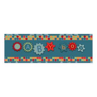 Etiqueta práctica del regalo del muchacho plantillas de tarjeta de negocio