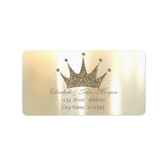 Etiqueta Princesa brillante, reluciente atractiva elegante