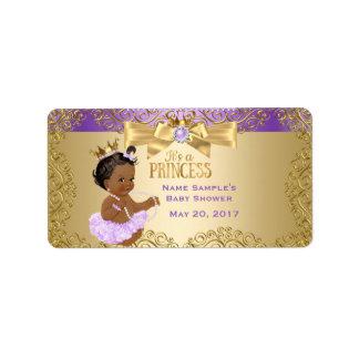 Etiqueta Princesa fiesta de bienvenida al bebé de la