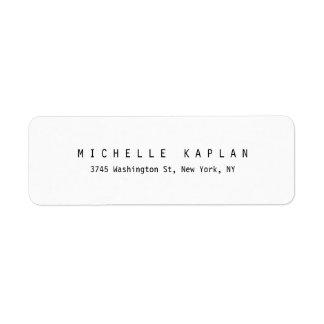 Etiqueta Profesional minimalista blanco negro clásico llano