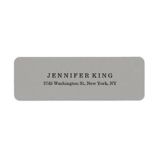Etiqueta Profesional minimalista gris clásico llano