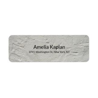 Etiqueta Profesional minimalista llano moderno gris