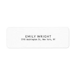 Etiqueta Profesional minimalista negro y blanco moderno