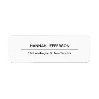 Etiqueta Profesional moderno minimalista creativo elegante