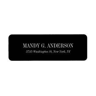 Etiqueta Profesional negro moderno elegante del fondo