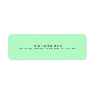 Etiqueta profesional verde moderna del remite etiquetas de remite