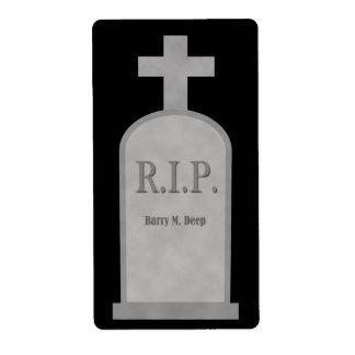 Etiqueta profunda Burry de la piedra sepulcral de  Etiqueta De Envío
