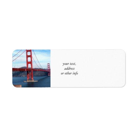 Etiqueta Puente de San Francisco Bay