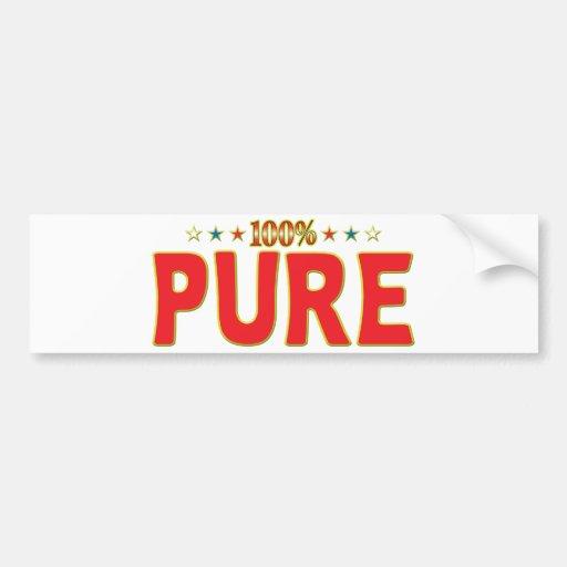 Etiqueta pura de la estrella pegatina de parachoque