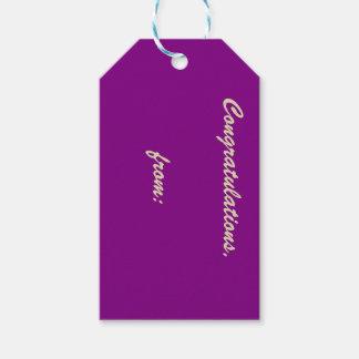 Etiqueta púrpura apasionada del regalo de la etiquetas para regalos
