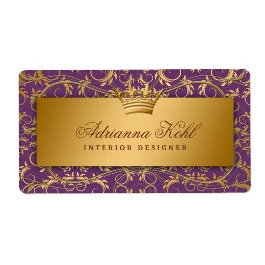 Etiqueta púrpura de la berenjena divina de oro 311 etiquetas de envío
