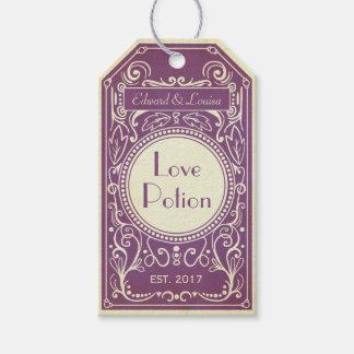 Etiquetas Para Regalos Etiqueta púrpura del boticario de la poción de
