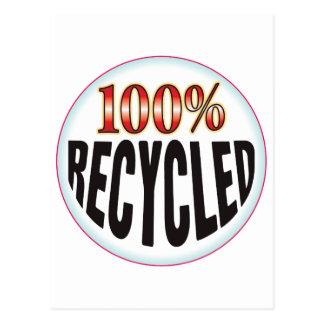 Etiqueta reciclada postal