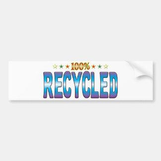 Etiqueta reciclada v2 de la estrella pegatina de parachoque