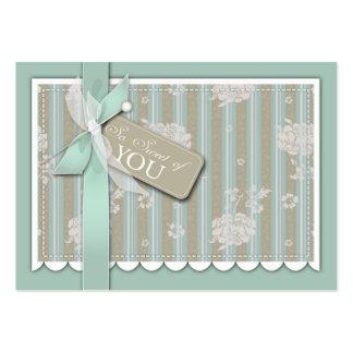 Etiqueta recién nacida del regalo de TY Tarjeta De Visita