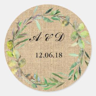 Etiqueta redonda del boda de los pegatinas
