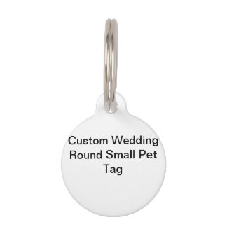 Etiqueta redonda del mascota del boda de encargo identificador para mascota
