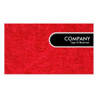 Etiqueta redondeada del borde - alfombra roja plantilla de tarjeta personal