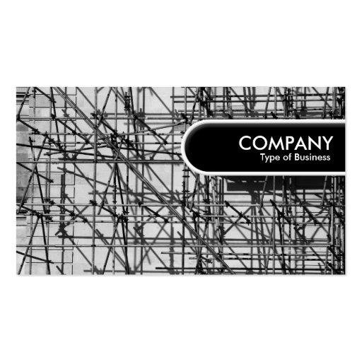 Etiqueta redondeada del borde - andamio plantilla de tarjeta de negocio